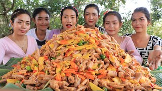 Wow amazing cooking chicken feet salad recipe with mango and carrot recipe