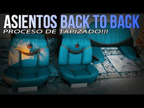 TAPICERIA NAUTICA - ASIENTOS BACK TO BACK - Upholstered boat seats