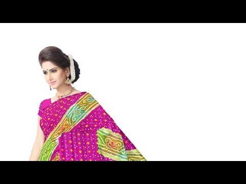 Aabhla And Thread Work Design Gaji Silk Bandhani Saree