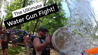 Ultimate Water Gun Fight   GoPro Super Soaker Campground Water Battle   The BEST Water Fight Ever!