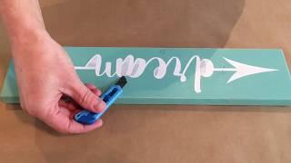 How To Make Wood Signs | Homeworks Etc DIY Kit