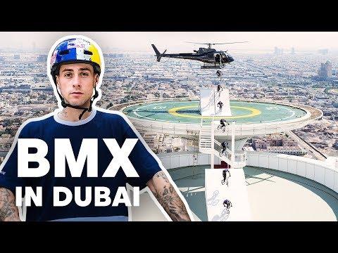 Riding a BMX on Dubai's Highest Landmarks