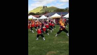 preview picture of video 'Ryukyukoku Matsuri Daiko-Kohala performs at Waimea Town Market'
