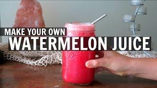 DIY Watermelon Juice || EASY + NO JUICER NEEDED!