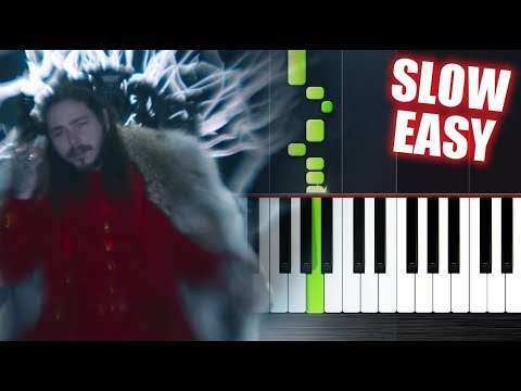 Post Malone - rockstar ft. 21 Savage - SLOW EASY Piano Tutorial by PlutaX