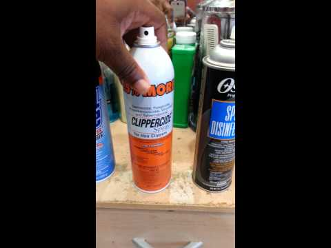My critique on  clipper disinfectant sprays