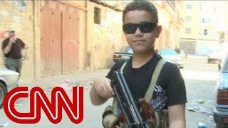 Child Fighter With AK 47 On Syria Border