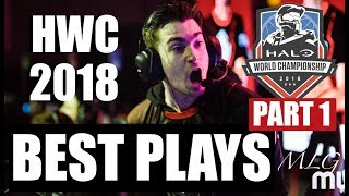 Halo World Championship 2018 Highlights Collection (Part 1) - Greatest Plays & Moments - dooclip.me