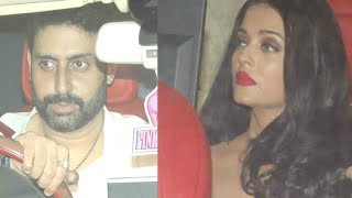 Aishwarya Rai And Abhishek Bachchan At Karan Johar Birthday Party 2017