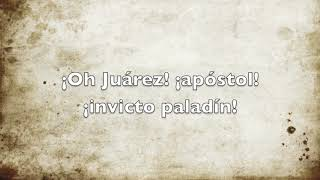 Himno A Juárez. Pista Escolar Piano.