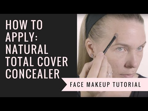 How to Apply our Natural Total Cover Concealer | Afterglow Cosmetics