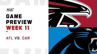 Atlanta Falcons vs Carolina Panthers Week 11 NFL Game Preview