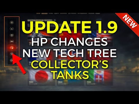 HP Buffs, New Tech Tree, Collectors Tanks | World of Tanks Update 1.9 Patch Preview