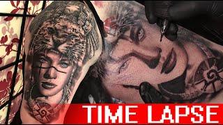 Aztec Warrior - Tattoo Time Lapse