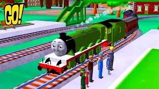 Томас и его Друзья играем за новый паровозик Генри открываем пакетики с Игрушками игра Мультфильм