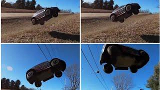 RC Car Crash 70 KPH FPV Traxxas Rally 4S
