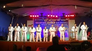preview picture of video 'Demonstration Of Taekwondo Kicks, Poomsae And Sparring By Chandannagar Taekwondo Association'