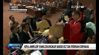 Hakim Konstitusi Konfrontasi Alat Bukti Amplop, KPU: Amplop dari Saksi 02 Tak Pernah Dipakai
