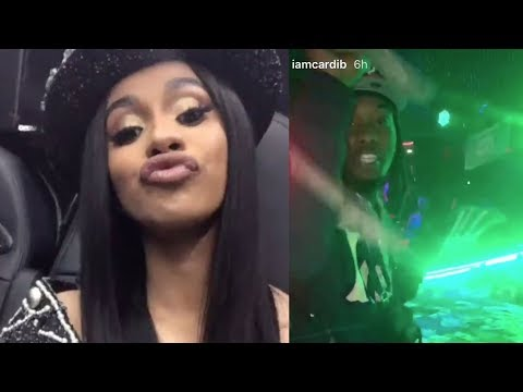 Cardi B & Offset Have Another WILD NIGHT At The Strip Club!