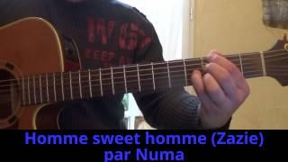 Homme sweet homme (Zazie) reprise à la guitare