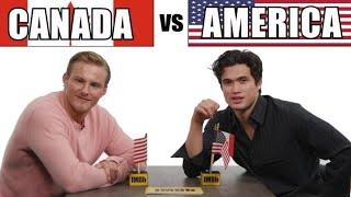 Bad Boys For Life Stars Alexander Ludwig And Charles Melton Play Canada Vs. America