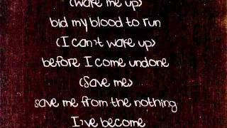 Evanescence   Bring Me To Life Lyrics