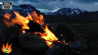 Crackling Campfire on the Windy Tundra of Norway (HD)