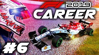 F1 2019 CAREER MODE Part 6: DISASTER STRIKES MID-RACE!