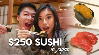 COUPLE TRIES $1 VS $250 SUSHI IN JAPAN! Is Buzzfeed's Recommendation Good?