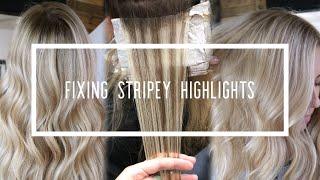 Fixing Stripey Highlights    Hair Tutorial