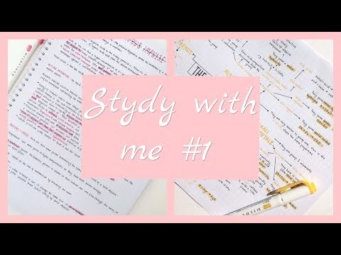 Study with me #1| Учись со мной | Ksenia Rey