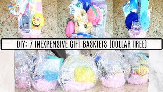 DIY: Make 7 Easy And Inexpensive Gift Baskets (Dollar Tree)