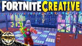 CUSTOM NIGHTCLUB : CREATIVE MODE IN FORTNITE : Fortnite The Block Gameplay : EP1