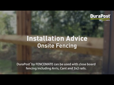 Using DuraPost for Onsite Fencing thumbnail