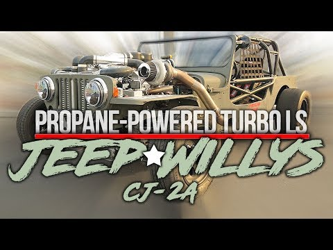 Propane Powered Turbo LS Jeep WIllys CJ-2A - Holley LS Fest West