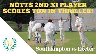 NOTTS 2s PLAYER SCORES 100 IN THRILLER UNIVERSITY CRICKET MATCH: Southampton vs Exeter, June 2018