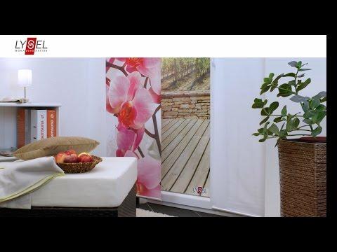 LYSEL® Schiebegardinen/Flächenvorhänge - Montage an der Decke