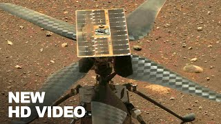 New HD Video of Mars Helicopter Ingenuity Spinning Its Rotor Blades