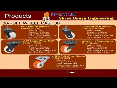 Nylon Twin Wheel Caster