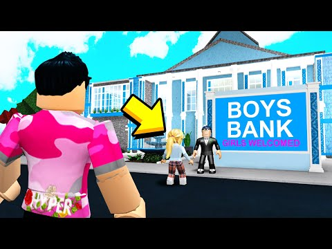 BOYS ONLY Bank Stole GIRL's Money.. I Made Cops Shut It Down! (Roblox)