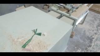 Wood pallet production machine - sawdust pallet foot press