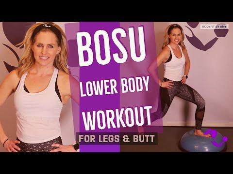 17 minute BOSU Lower Body Workout for Legs & Butt