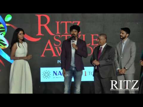 Sivakarthikeyan wins South India's Most Admired Celebrity Award at Audi Ritz Style Awards