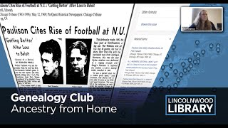 Genealogy Club - Ancestry from Home