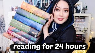 HOW MANY HARRY POTTER BOOKS CAN I READ IN A DAY? 24 Hour Readathon Vlog