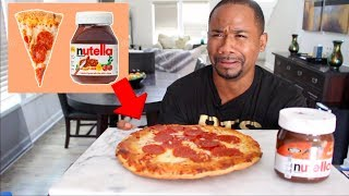 Eating 10 WEIRD Food Combos Reccomended by YouTube | Alonzo Lerone