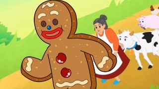 The Gingerbread Man Cartoon | English Fairy Tales And Bedtime Stories