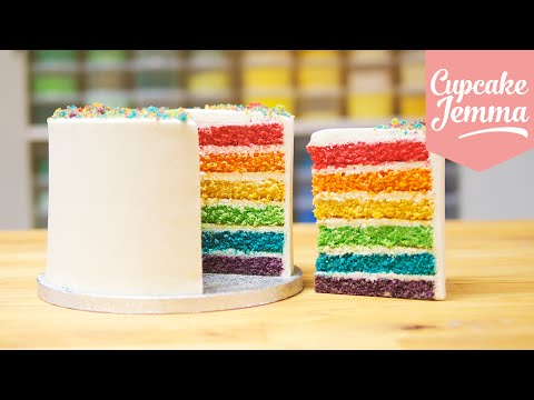 Video How to make the Best Ever Rainbow Cake | Cupcake Jemma
