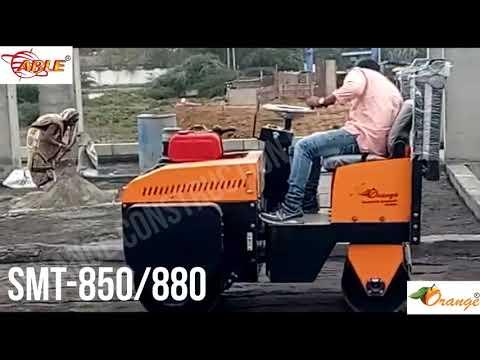 Diesel 5hp Orange Single Drum Roller