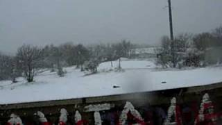 preview picture of video 'Neve a Campagnano di Roma(Monte Razzano) -  9 Marzo 2010'